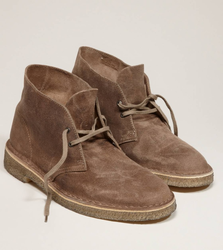 """Clarks Originals Desert Boot. Every time I see these kind of shoes I think on Carlton Lassiter from Psych saying, """"they're a casual gentleman's shoe."""" LOL"""