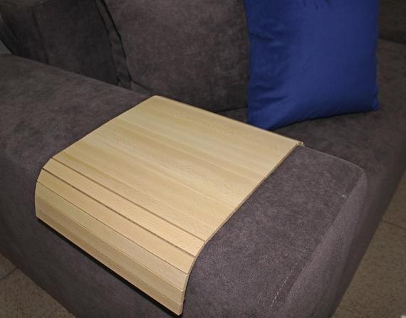Sofa Tray Table Sofa Arm Tray Armrest Tray Sofa Arm Table Couch Tray Coffee Table Flexible Tray Adjustable Tray Flexible Wooden Tea Tray Ash Sofa Arm Table Custom Wood Furniture Couch