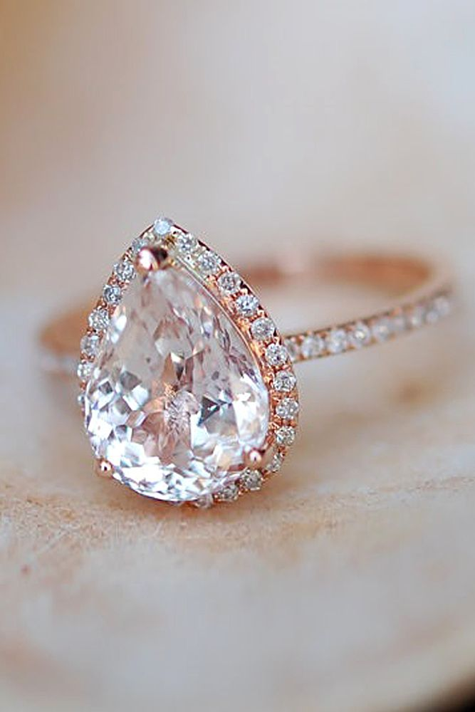 Halo Engagement Rings Or How To Get More Bling For Your Money ❤ See more: http://www.weddingforward.com/halo-engagement-rings/ #wedding #engagement #rings