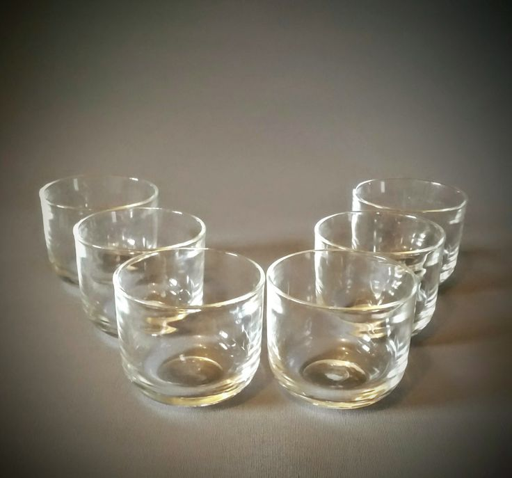 Mid century modern set of six clear glass tumblers whisky glasses. 'Fasetti' designed by Kaj Franck for Nuutajarvi/ Notsjo by NordicFiesta on Etsy