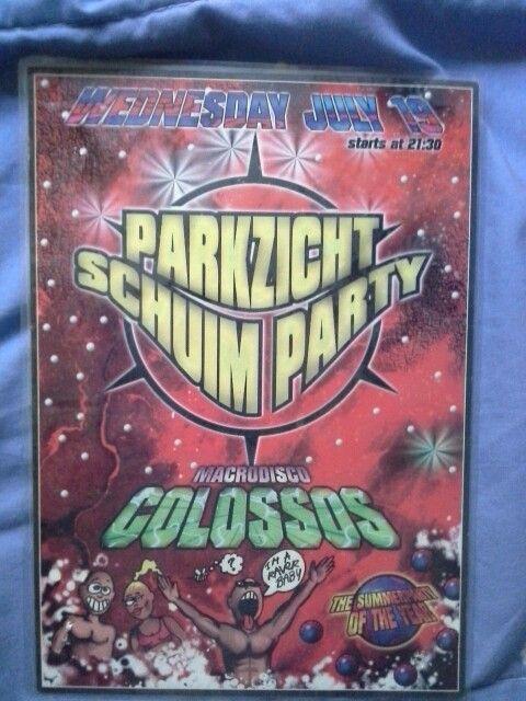 Parkzicht Schuim Party Colossos Spanje 1997