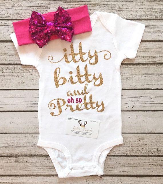 Itty Bitty and Oh So Pretty Bodysuit Pretty Girls by BellaPiccoli