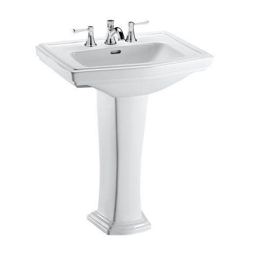 Toto Clayton Rectangular Pedestal Bathroom Sink For 4 Inch Center