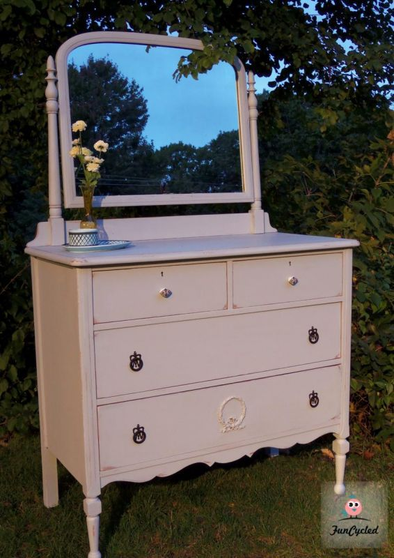 Prelude Blue Antique Dresser With Mirror By Funcycled Www