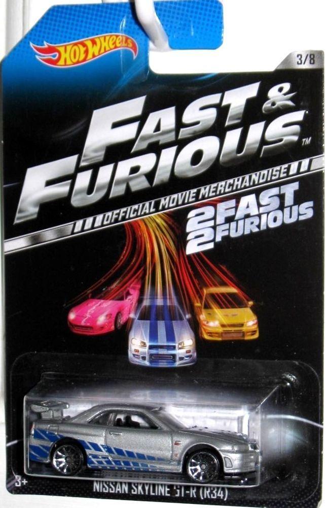 PAUL WALKER'S Nissan Skyline GT-R34 Hot Wheels 2 FAST 2 FURIOUS Movie Car #3/8 #HotWheels #Ford