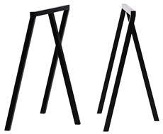 Loop Stand Base från Hay är benbockar som kan väljas i olika färger men även finns i högre höjd #benbockar #bordsstativ #hay #dialoginterior.