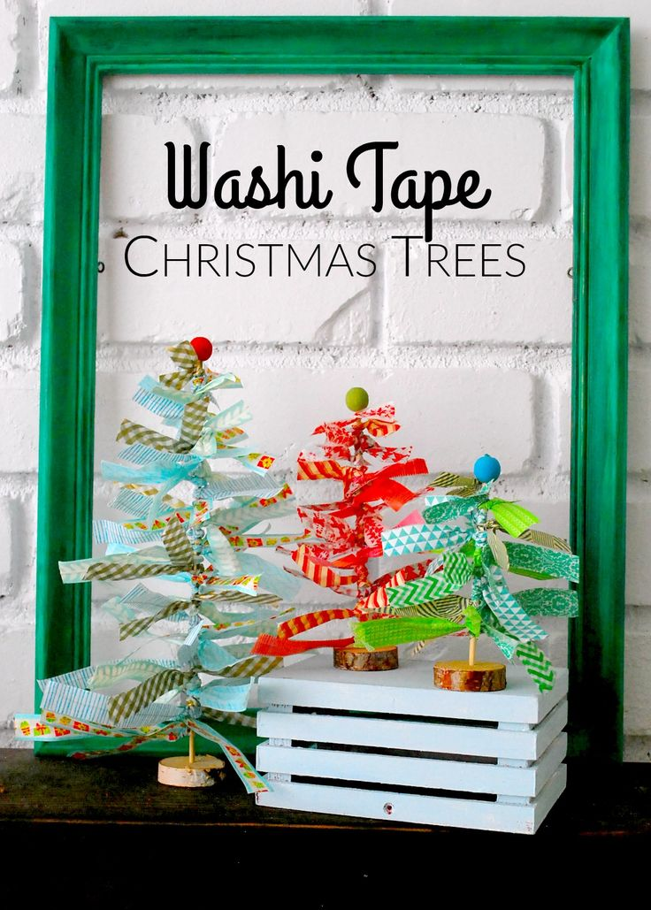 Washi Tape Christmas Trees by The Silly Pearl