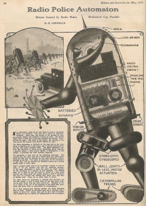 Many decades before Robocop, a prototype of an invincible, mechanical policeman was in the works.
