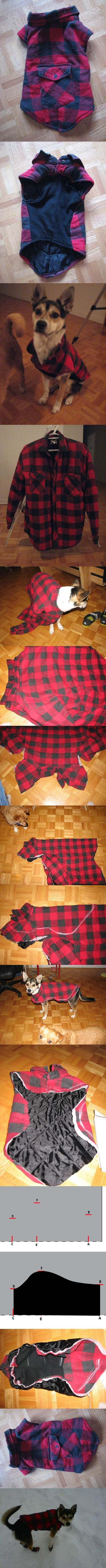 Jaqueta DIY Dog Inverno de Old camisa 2