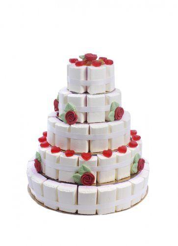 Süße Hochzeitstorte 5 stöckig Menge:2 Kg: Amazon.de: Lebensmittel & Getränke