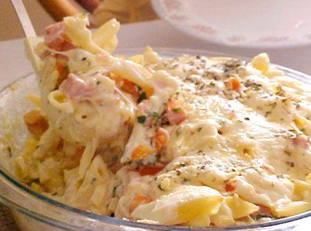 Macarrão de Pizza - Veja como fazer em: http://cybercook.com.br/receita-de-macarrao-de-pizza-r-5-12463.html?pinterest-rec