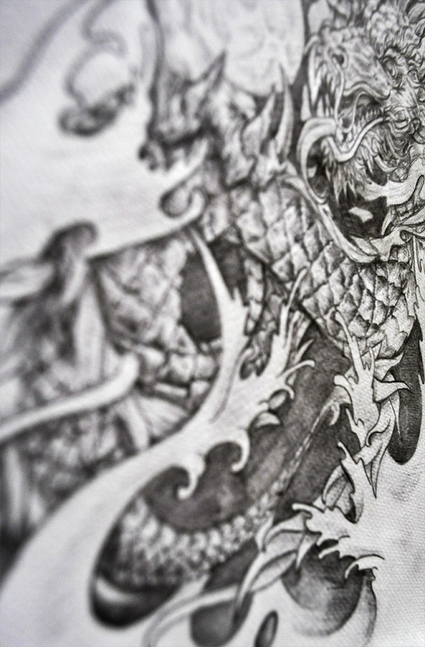 Tattoo Sketch by Jaime Torres, via Behance -- 2011
