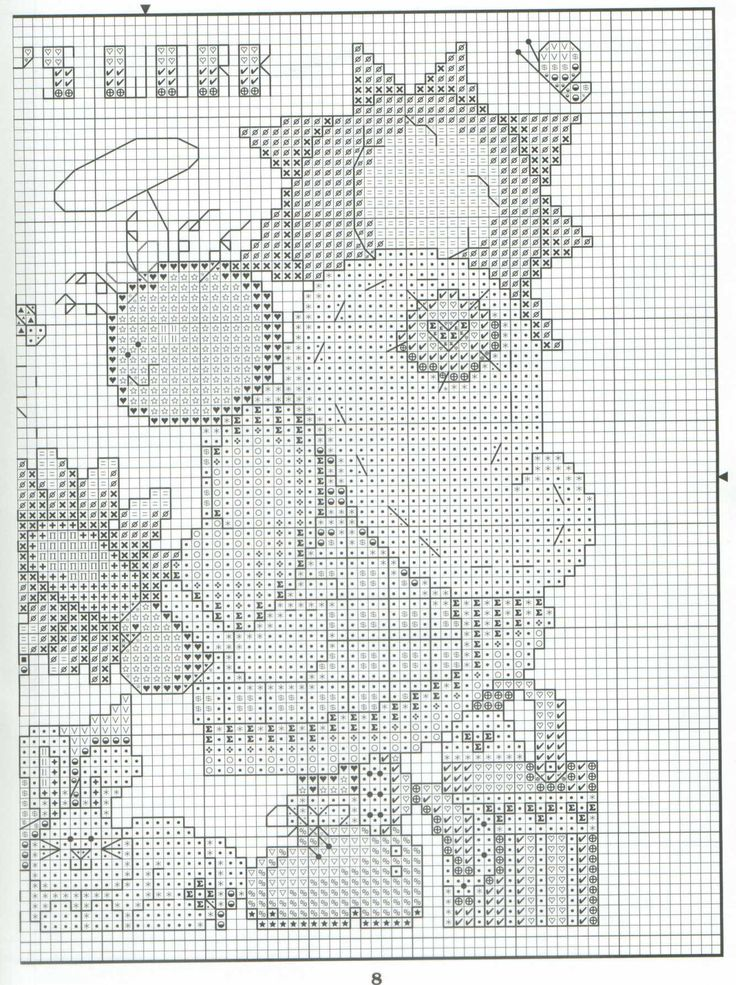 Schematic cross stitch Protected From Angels 04