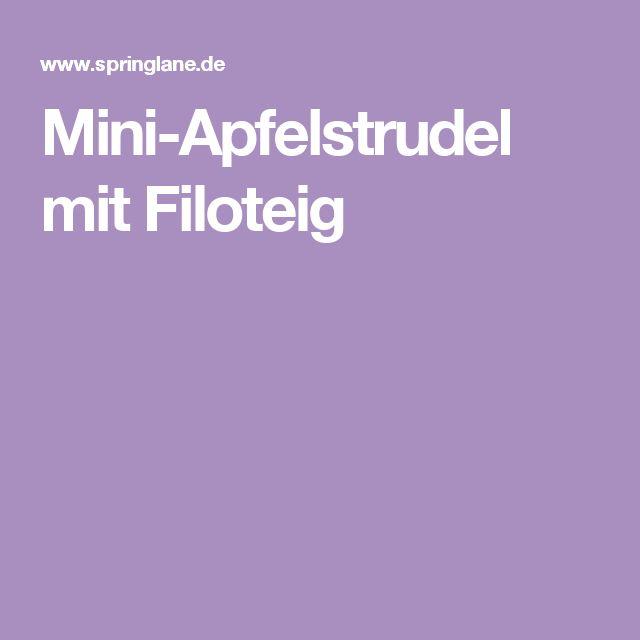 Mini-Apfelstrudel mit Filoteig