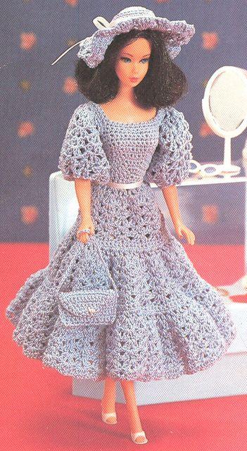 NO PATTERN. Barbie Crochet Dress.