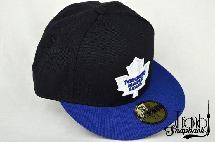 TORONTO MAPLE LEAFS BLK/BLU/WHT NEW ERA 5950 FITTED CAP / Toronto Snapback