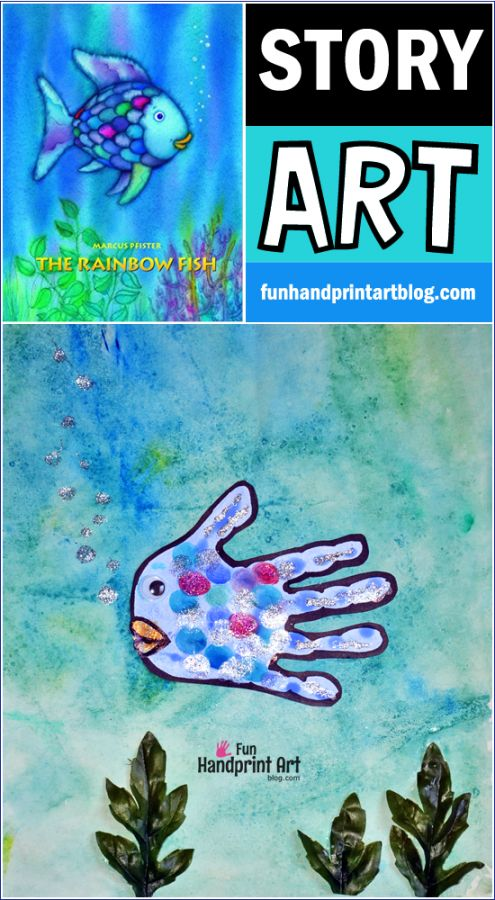 The Rainbow Fish Book & Rainbow Fish Craft for Preschoolers