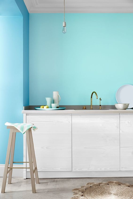 Ce bleu fait pétiller la cuisine : les nouveaux bleus de Little Greene - CôtéMaison.fr