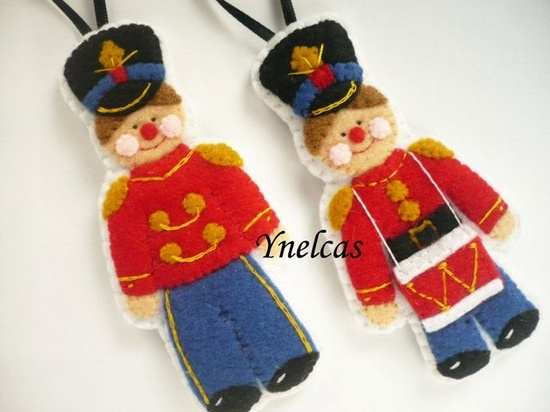 Christmas Felt Projects | Felt Soldier, Felt Christmas Ornament, Soldier Christmas Decoration ...