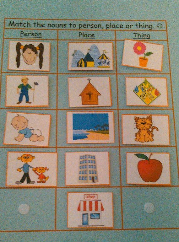 Busy Book Page Nouns Velcro / Quiet Book Page  Busy Books