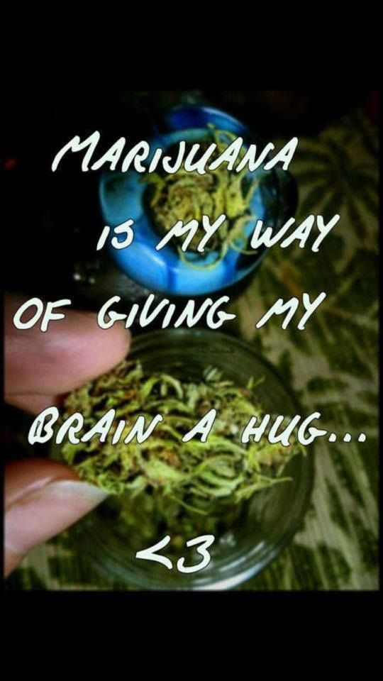 Marijuana is My Way of Giving My Brain a Hug From RedEyesOnline.net From RedEyesOnline.net