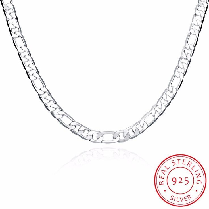 INALIS Men's Fine Jewelry High Quality 925 Sterling Silver 10mm 20'' 50cm Silver Necklace Fashion For Male Christmas Gifts