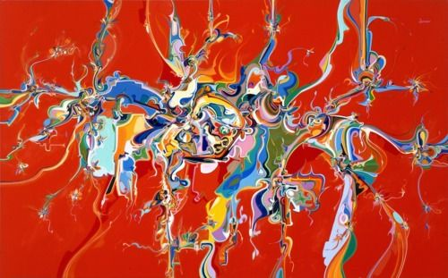"Alex Janvier (Dene Suline and Saulteaux): ""Lubicon"", 1988. Art Gallery of Alberta Collection"