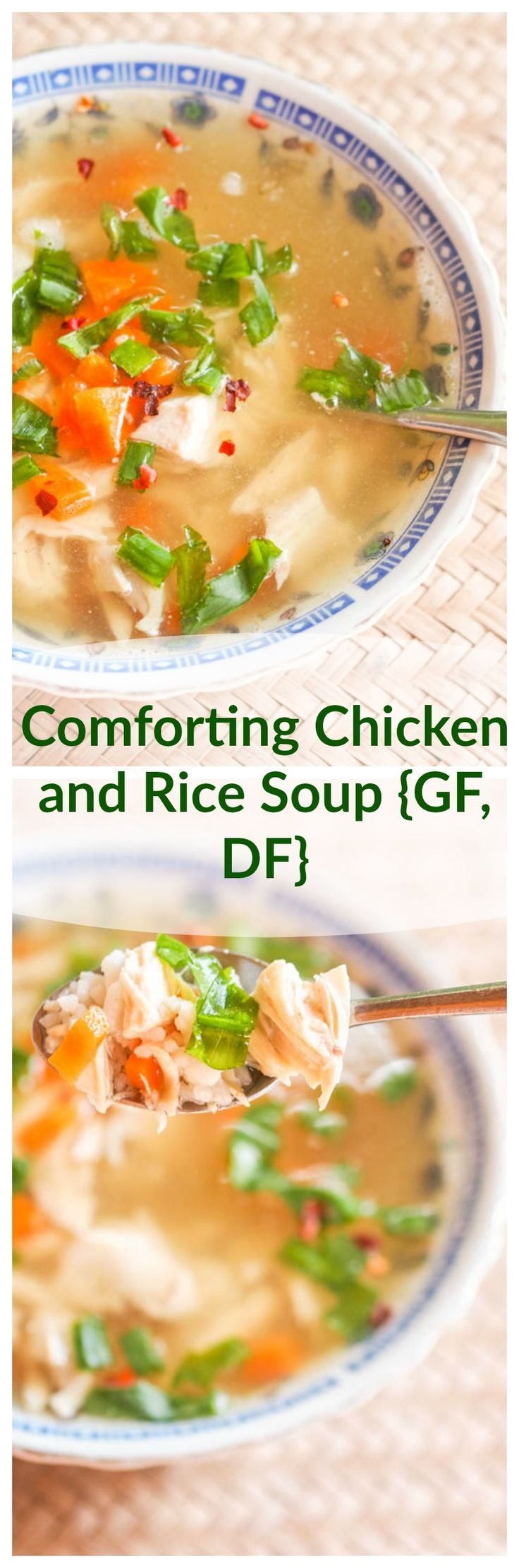 This Chicken and rice soup all starts from a fragrant and flavorful home made chicken broth. That is the star of this recipe and what turns this simple soup into your new favorite comfort meal. Gluten Free and Dairy Free.