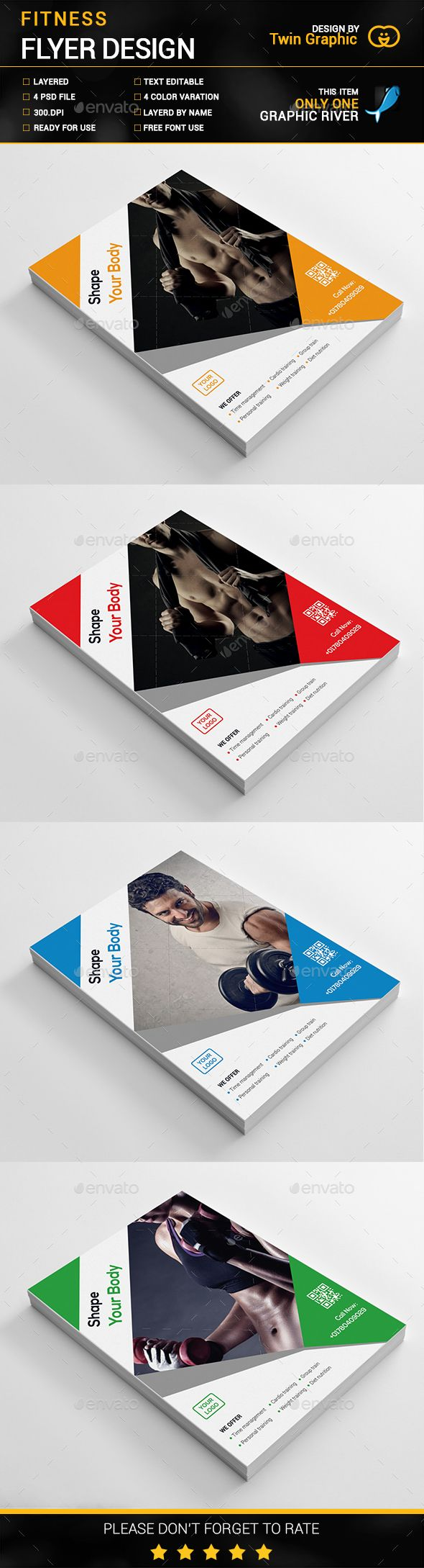 gym fitness flyer design flyer template gym and flyers gym fitness flyer design corporate flyer template psd here