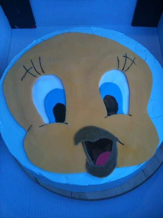 Baby shower boy cake fondant  Dreng barnedåbskage birdy