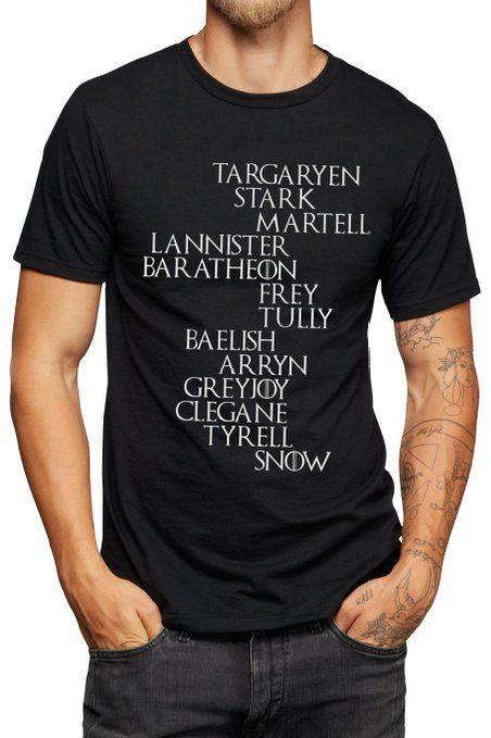 Noble Houses T-Shirt - Jon Snow - Game of Thrones - Vinyl Printed T-shirt: Amazon.de: Bekleidung