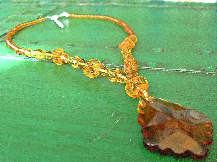 Colliers - Barock Vintage Collier Kette Einzelstück Glas - ein Designerstück von Mont_Klamott bei DaWanda