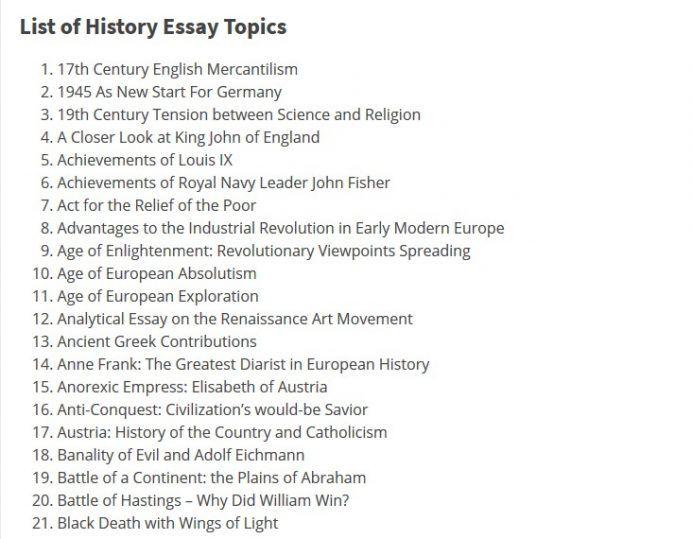 History Essay Topics History Essay Essay Topics Essay