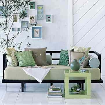 ideas for daybed in the nursery love the simple mattress cover and pillow arrangement