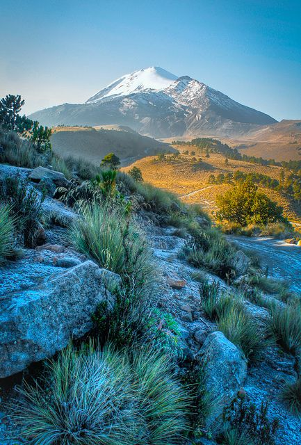 Mexico's tallest mountain (5611m), called Citlaltépetl (Star Mountain) in the Náhuatl language, is 25km northwest of Orizaba. From the summit of this dormant volcano, one can see the mountains Popocatépetl, Iztaccíhuatl and La Malinche to the west and the Gulf of Mexico to the east...  Read more: http://www.lonelyplanet.com/mexico/pico-de-orizaba#ixzz3RGScKxgn