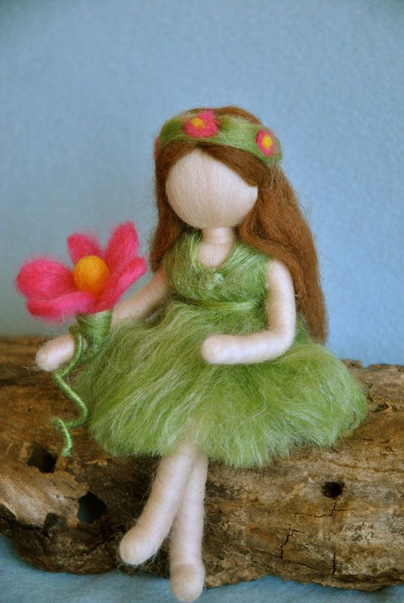 Waldorf inspired needle felted doll Fairy of the by MagicWool, $36.00