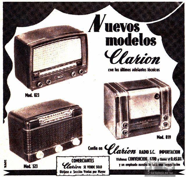 ad_Clarion_radios_Supl_El_Dia_1954_02