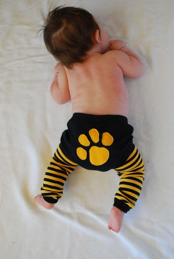 MIZZOU Cotton Diaper Cover and leg warmers Black with by kakabaka, $24.00