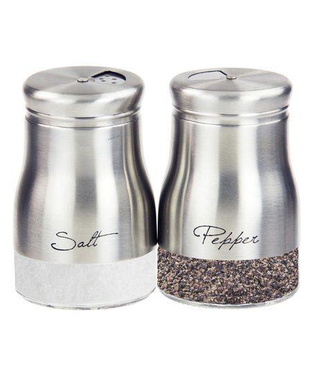 Home Basics Stainless Steel Salt Pepper Shaker Set Zulily