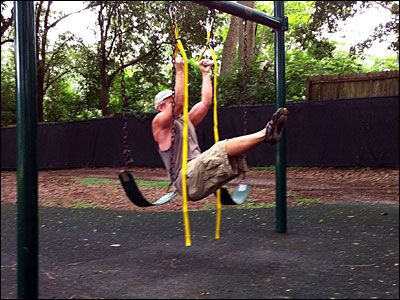 The 32 best images about adult obstacle course on for Diy adult swing set