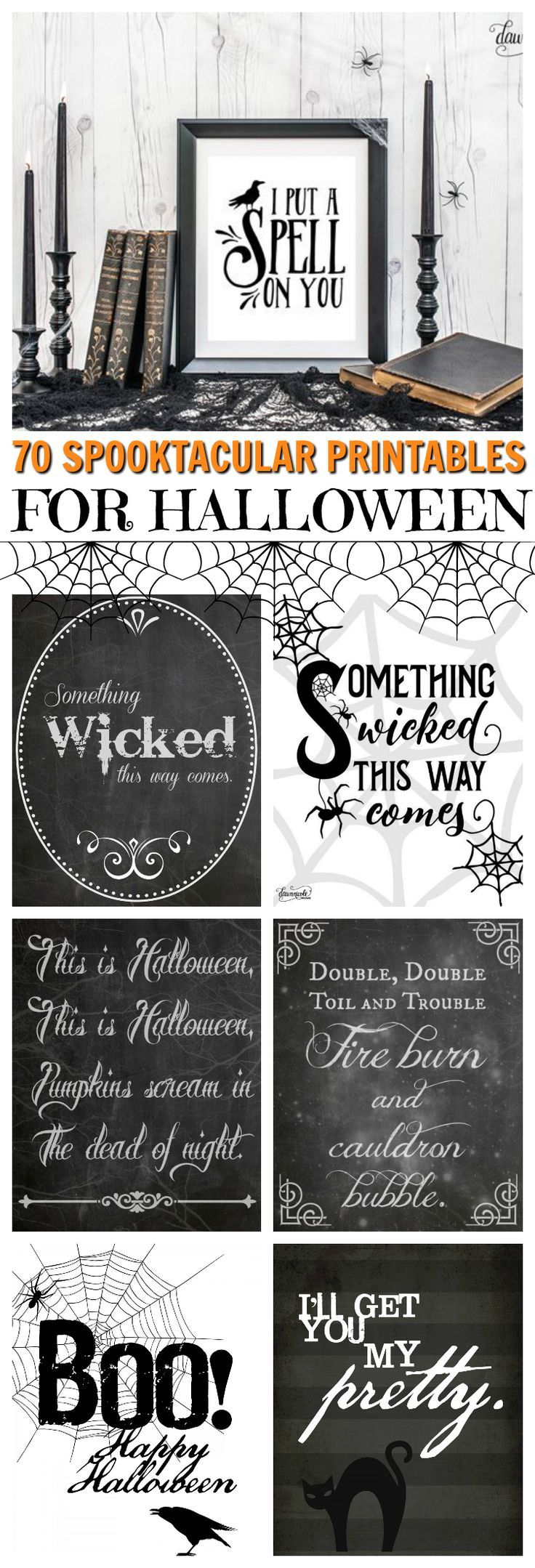 These 70+ Free Halloween Printables Are AMAZING For DIY Projects. These artists are just so generous!