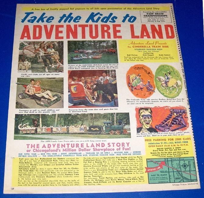 Adventure Land / Medinah Rd. & Lake St. Addison, IL. (1961-1977): Dad, Town Chicago, Amusement Park, Lostchicago