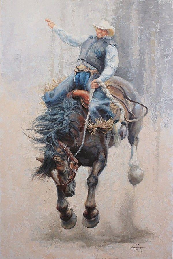 """""""In a Cloud of Dust"""""""" by Abigail Gutting Oil ~ 36"""" x 24"""""""