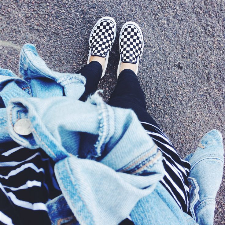fantastic vans slip on checkerboard outfit top