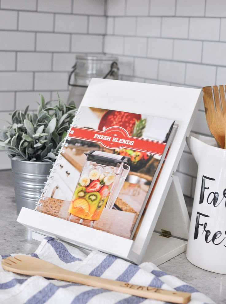 With the ability for fold down flat, this recipe stand makes reading recipes easy and functional. Get the free plans with full building instructions.