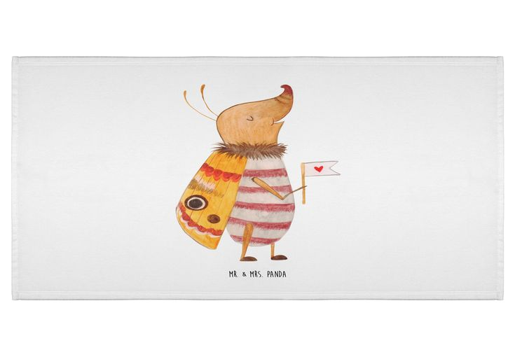 """100 x 180 Badehandtuch Nachtfalter mit Fähnchen aus Kunstfaser  Natur - Das Original von Mr. & Mrs. Panda.  Dieses wunderschöne Handtuch von Mr. & Mrs. Panda hat die Größe 100 x 180 cm und ist perfekt für dein Badezimmer oder als Badehandtuch einsetzbar.    Über unser Motiv Nachtfalter mit Fähnchen  Unser kleiner Nachtfalter aus der """"Small World"""" - Kollektion ist immer gut gelaunt.     Verwendete Materialien  Die verwendete sehr hochwertige Kunstfaser ist langlebig, strapazierfähig und…"""