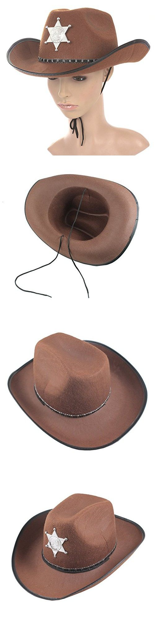 Tinksky Cowboy Western Wild Hat Fancy Dress Halloween Party Costume Props Gift Brown