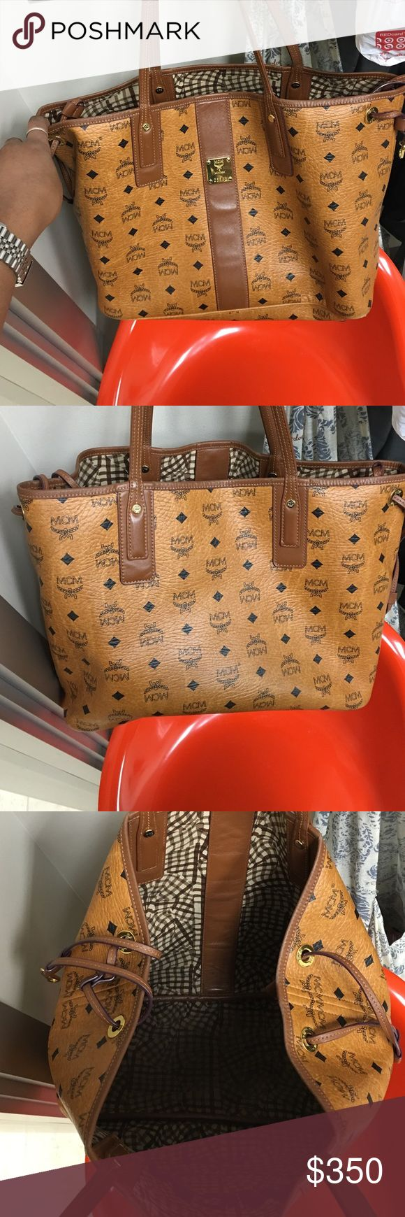 MCM brand handbag 100% Authentic MCM brand handbag medium size condition 9/10. the pouchette/wallet that comes with it has already been sold. contact me for any questions concerns or more photos MCM Bags Shoulder Bags