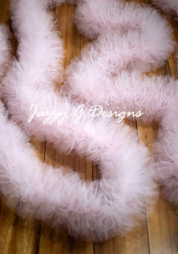 Very Light Pink Lighted Tulle Garland-Wedding by JazzyGDesigns