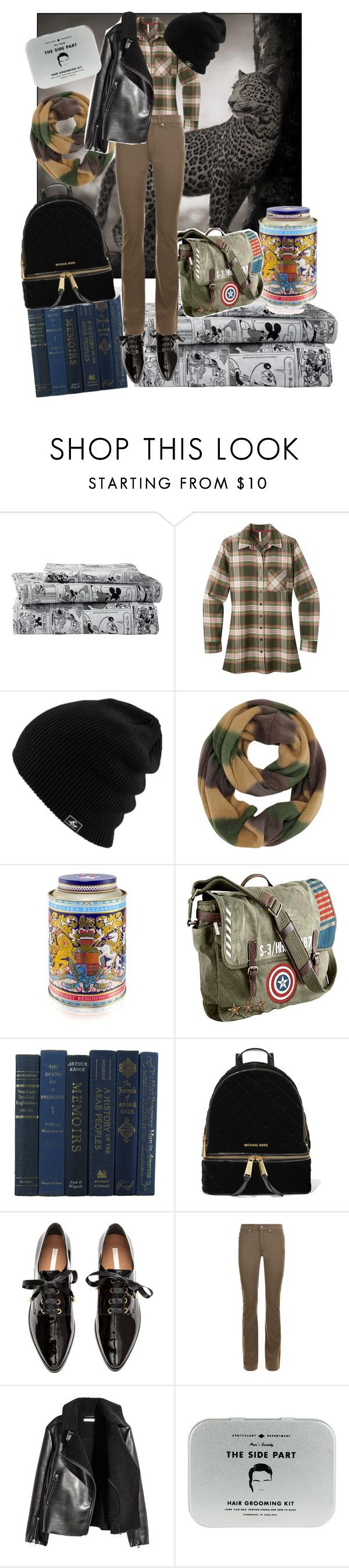 """like a man"" by maitenara ❤ liked on Polyvore featuring Ethan Allen, Mountain Khakis, Marvel, MICHAEL Michael Kors, Escada Sport and Men's Society"